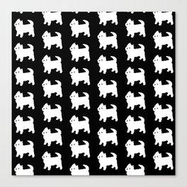 Westie Dog Pattern Canvas Print