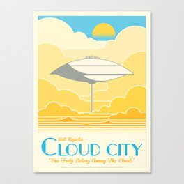 Visit Cloud City Canvas Print