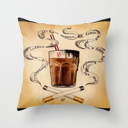 Cigarettes and Chocolate Milk Throw Pillow