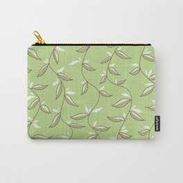 Gentle Green Leaves And Lianas Pattern Carry-All Pouch