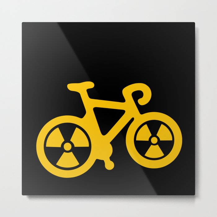 Radioactive Bicycle Metal Print