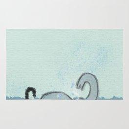 Elephant Takes A Bath Rug