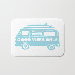 Good Vibes Only retro surfing Camper Van Bath Mat