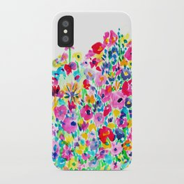 Flower Fields Pink iPhone Case