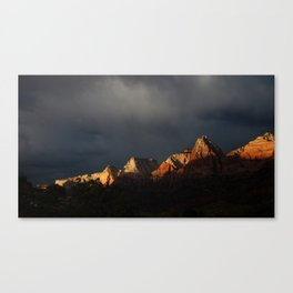 Storm Over Zion National Park Canvas Print