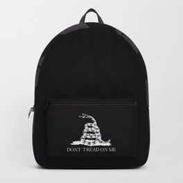 Gadsden flag Don't tread on me black and white Backpack