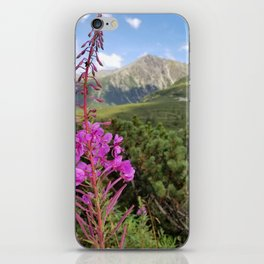 Carpathian Tatry Mountain and Flower Summer Landscape Photo iPhone Skin