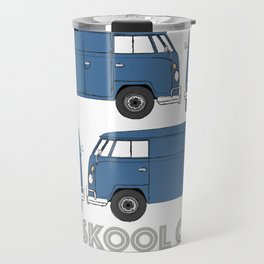 old skool cool – vintage commercial panel van in Dove Blue Travel Mug