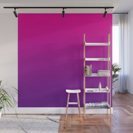 Neon Pink Purple Ultra Violet Pattern Wall Mural