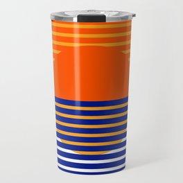 Orange Split Sun Travel Mug