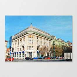 timisiana bank romania timisoara architecture landmark monument Canvas Print