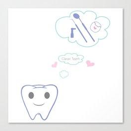 Clean Teeth Canvas Print