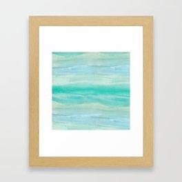 Blue Ombre Watercolor Framed Art Print