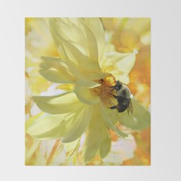 Busy Bumble Bee Throw Blanket