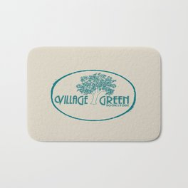 Village Green Bookstore Green on Tan Bath Mat