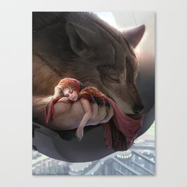 Futuristic Red Riding Hood Canvas Print