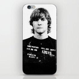 Cobain Mugshot iPhone Skin