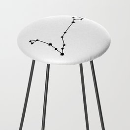 Pisces Star Sign Black & White Counter Stool
