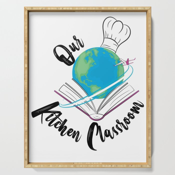 Our Kitchen Classroom Logo Serving Tray