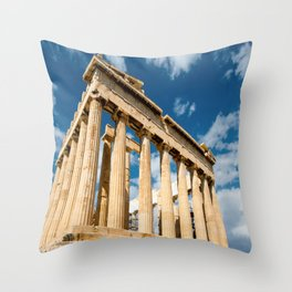 Parthenon Greece Throw Pillow