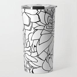 Succulent Line Drawing Travel Mug