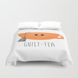 Guilt-tea Duvet Cover