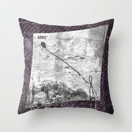 Lost - stripe graphic Throw Pillow