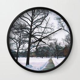 The Frozen Quad Wall Clock