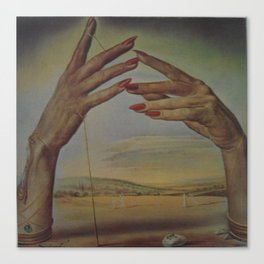 PORTRAIT OF A PASSIONATE WOMAN  (The Hands)  by Salvador Dali Canvas Print