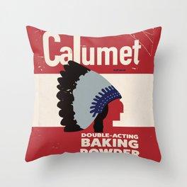 Calumet Baking Soda Can label Throw Pillow