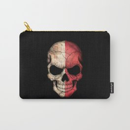 Dark Skull with Flag of Malta Carry-All Pouch