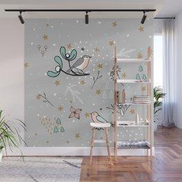 Scandinavian birds Wall Mural
