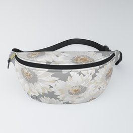 white asters Fanny Pack