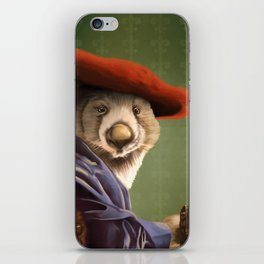 Wombat with a Red Hat iPhone Skin