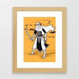 An Arabian Knight (Portrait)  Framed Art Print