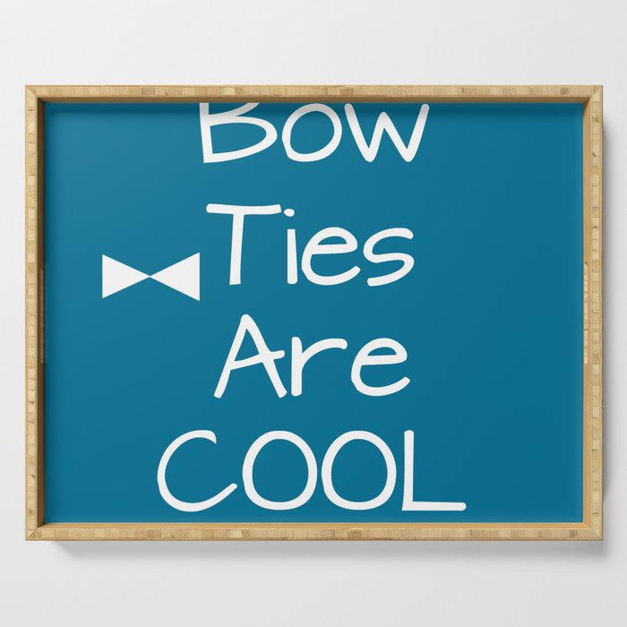 DOCTOR WHO Bow Ties Are Cool Teal Serving Tray