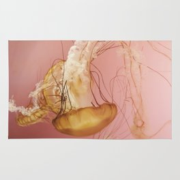 Explosion   Photograph of Jellyfish Rug