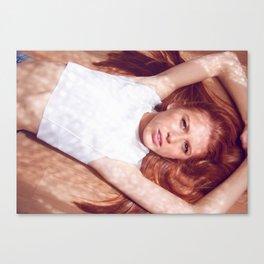 woman on air Canvas Print