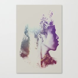 Oh, the places that she dreamed about Canvas Print