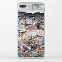 Pattern #3 (another brick in the wall) Clear iPhone Case
