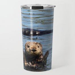 sea otter hello Travel Mug