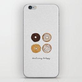 Donut Worry iPhone Skin