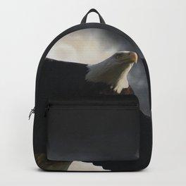 Soaring Eagle in Stormy Skies Backpack