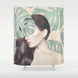Monstera Suara Shower Curtain