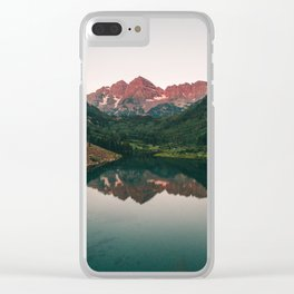 Maroon Bells Sunrise Reflection Clear iPhone Case