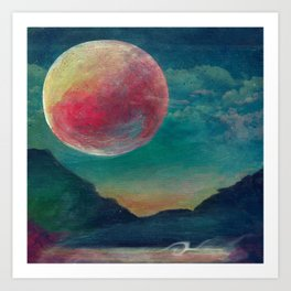 On The Nature Of Moonlight Art Print