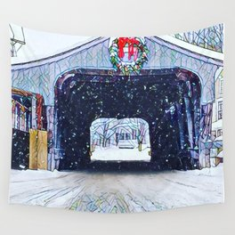 Vermont Covered Bridge Sugabush Wall Tapestry