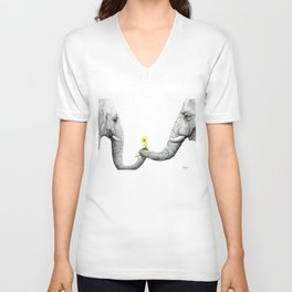"""""""Up Close You Are More Wrinkly Than I Remembered"""" Unisex V-Neck"""