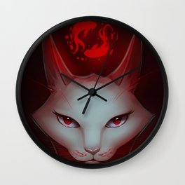 Vampire Cat Wall Clock