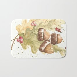 Autumn Acorns Bath Mat